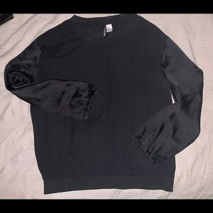 Black Sheer/Silk Long Sleeve
